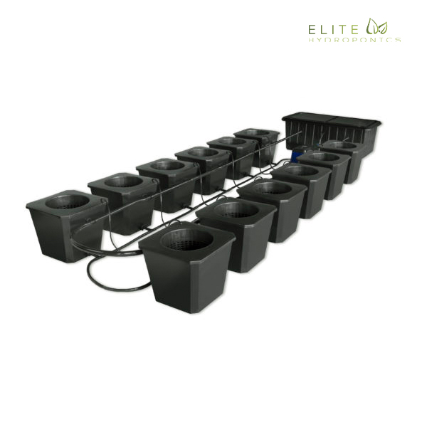 12-Site Bubble Flow Buckets Hydroponic Grow System