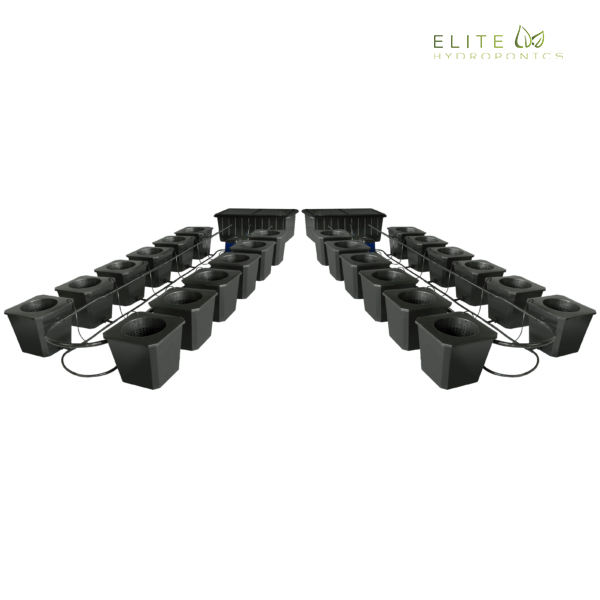 24-Site Bubble Flow Buckets Hydroponic Grow System