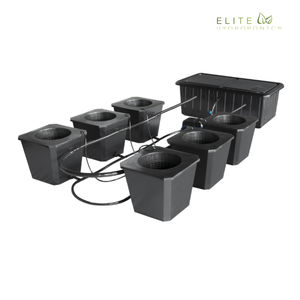 6-Site Bubble Flow Buckets Hydroponic Grow System