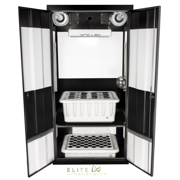 deluxe 3 0 led grow cabinet grow box elite hydroponics. Black Bedroom Furniture Sets. Home Design Ideas