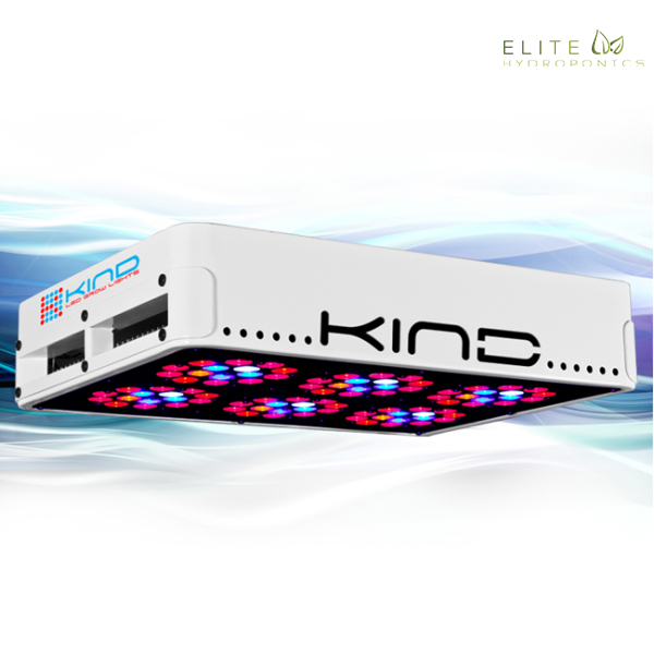 Kind LED K3 – L300 Indoor Grow Light Kind LED K3 – L300 grow light kit grow light kit is comprised of high powered 3 Watt Light Emitting Diodes featuring a proprietary intensified spectrum designed for flowering large yields. This revolutionary series of LED grow lights will produce the biggest and best yields, while consuming approximately half the electricity and producing virtually no heat. Your Kind LED grow light kit will cultivate record breaking yields, both in quantity and quality, while running quieter, cooler, and more efficiently than any other grow light. Guaranteed.< Full Specifications of the K3 – L300 LED Grow Light: Dimensions: 15″ x 11″ x 3″ Weight: 13 lbs. Actual Wattage: 220w HID Wattage Equivalent: 300w Modules: 6 Diodes per Module: 15 Total Diodes: 90 Diode Wattage: 3w Footprint: 2′ x 3′ Input Voltage: 100-240V AC Power Input Work Frequency: 50/60 Hz – Suitable for Global Energy Environment Output Voltage: UL Standard Output Voltage – Less than 76V DC Amperage: 1.83 Kind Factor: 10/10 Replaces: 300w Traditional Grow Light / Actual Wattage: 220w